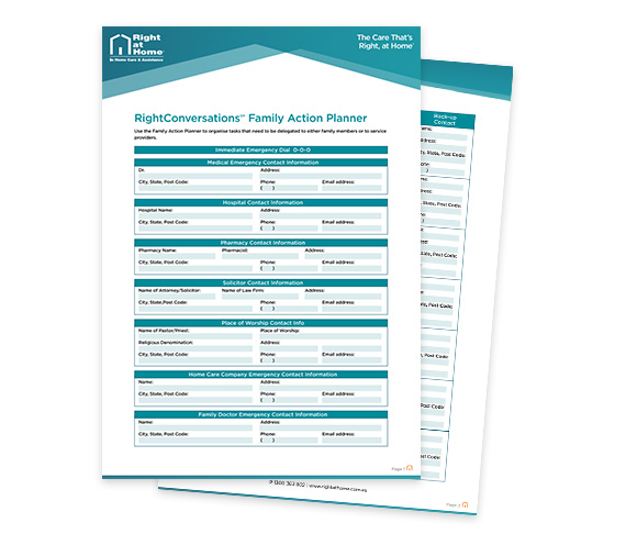 Free RightConversations Family Action Planner